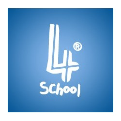 4school - Bloco Escolar Quadriculado, 4 furos, 80fls