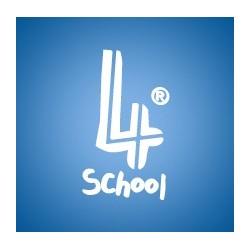 4school - Bloco Escolar Liso, 4 furos, 80fls