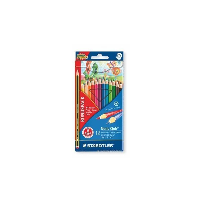 Staedtler Pack 12 Lápis de Cor Noris Club (com oferta lápis HB 2)