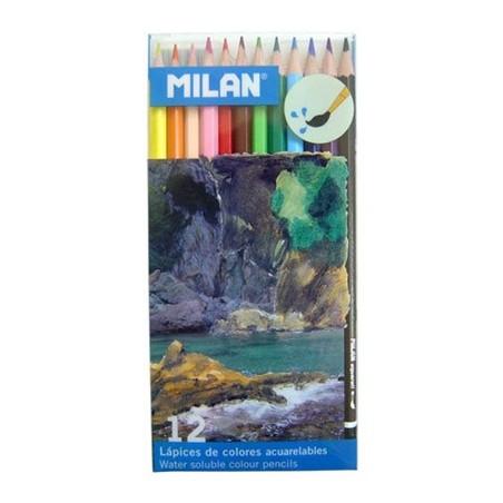 Milan Pack 12 Lápis de Cor Aguarela