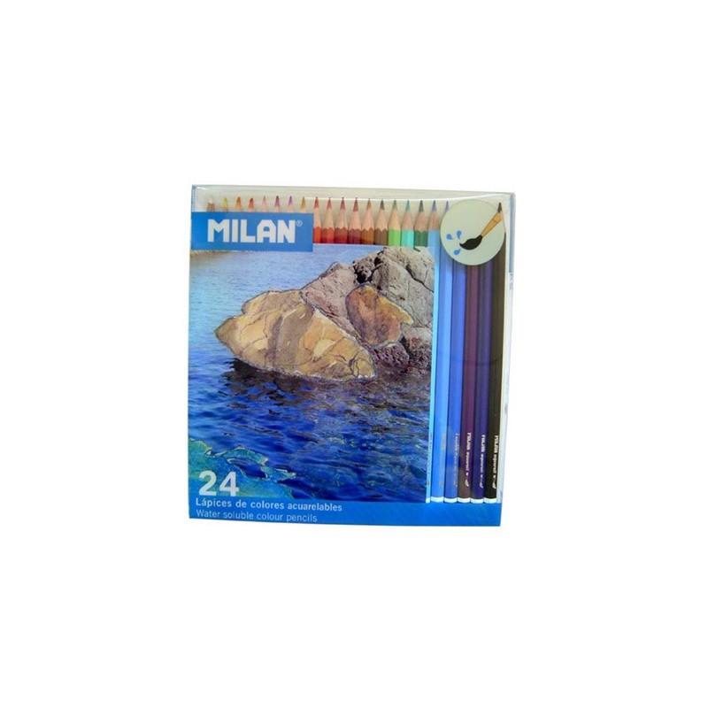 Milan Pack 24 Lápis de Cor Aguarela