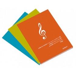 Ambrar - Caderno Música 20 folhas 60g/m2