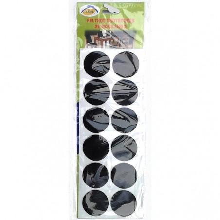 LARMIL Pack 12 feltros protetores de mobiliário (circulares)