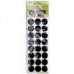LARMIL Pack 24 feltros protetores de mobiliário (circulares)