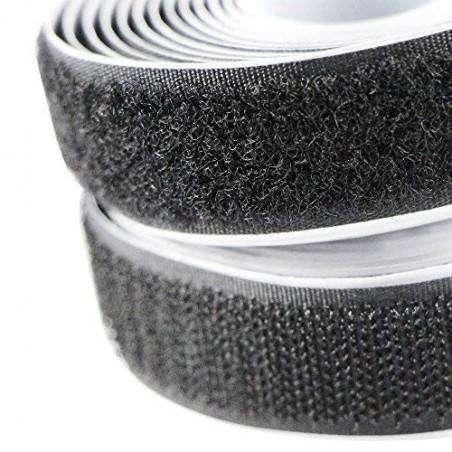 Cose - Velcro Adesivo Preto M/F (1mt x 20mm)
