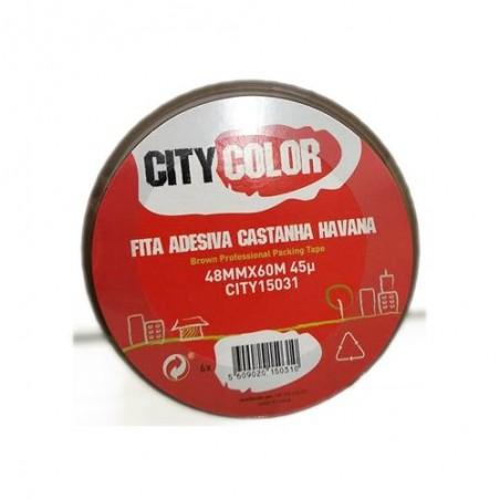 Citycolor - FITA ADESIVA 48mmx60m CASTANHA HAVANA CITY15031