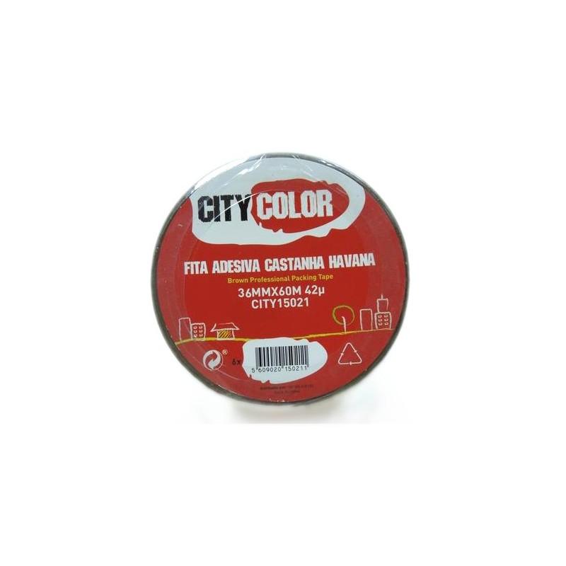 Citycolor - FITA ADESIVA 38mmx60m CASTANHA HAVANA CITY15021