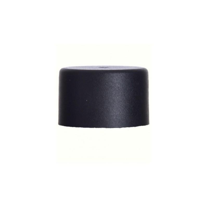 Tampa Rosca Plástico preta/ Boca PP24
