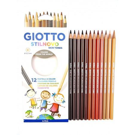 Giotto - 36 Lápices de Colores, Naturale -fácil de afilar