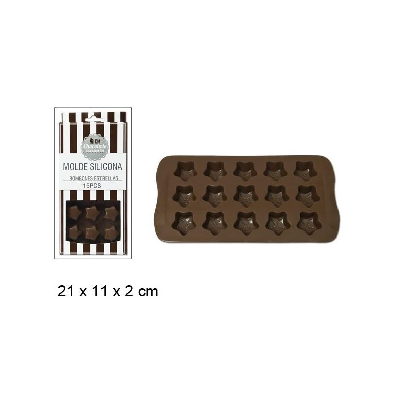 CM - bandeja 15 moldes/ silicone (concha)
