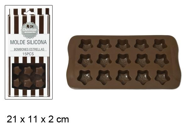 CM - CM - bandeja 15 moldes/ silicone (estrela)