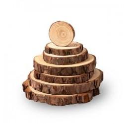 2x Wood rings Ø 7-8cm...